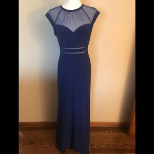 Night Way Collections blue mesh insert gown size 6